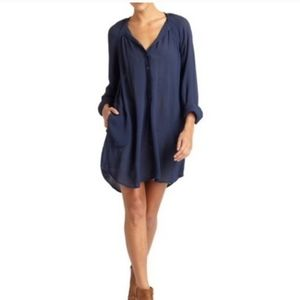 BCBG MaxAzria 'Jones' navy ink tunic shirt dress